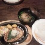 びっくりドンキー 江坂店 - 豆腐ハンバーグランチセット!