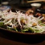 竹shi - 烏賊フライが乗ったサラダ
