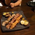 竹shi - 串焼きのレバーともも