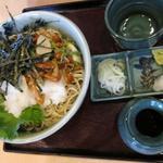 番田 満留賀 - 山菜そば(冷たい)850円