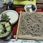 乃木そば神谷 - ざる山菜とろろ蕎麦 ¥900