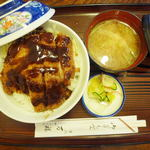 食事処 万福 - 料理写真:ソースかつ丼¥680