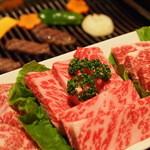 牛肉本舗 くろ - 料理写真:カルビ3種盛り 1300円