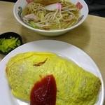 すゑひろ - オムライス530円大盛+100円