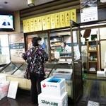 魚辰 - 母体である魚屋で魚を購入していく消費者
