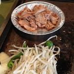 てっぱんやき むー - ランチの豚しょうが焼セット(840円)2013年5月