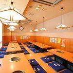 焼肉 平和 - 3階のお座敷(掘りごたつ)は最大45名まで収容可能です。ご宴会に最適!