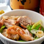 TEPPAN DINING KO-KO-RO - 大山都鶏 もも鉄板焼き 柚子胡椒添え
