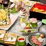 結 - 旬三昧コース 3時間飲み放題込み5000円 歓送迎会など各種ご宴会に人気です。
