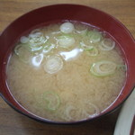 一新亭 - 味噌汁