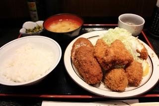 三河屋 - ミックス(コロッケ、メンチ)950円