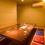 京都豆八 - ≪完全個室のご案内≫8名様まで可能、掘りごたつ式の完全個室。