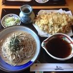 四季旬菜Kin一 - かき揚げそば(ざる)900円