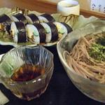 食彩味処 おおにし - 日替定食(巻寿司&冷そば)