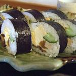 食彩味処 おおにし - 日替定食の巻寿司