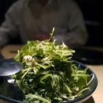 エンガワ - 【柔らか蒸し鶏と香味野菜サラダ】 ¥700