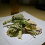 エンガワ - 【春野菜の天婦羅】¥1200