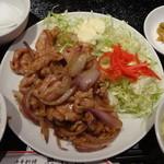 19261182 - 豚肉の生姜焼き定食:850円