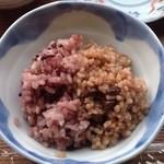 玄米カフェ - 【黒米ごはん:豆ごはん】
