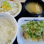 松屋 - ネギ塩チキングリル定食