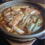 ふる里 - 料理写真:味噌煮込みうどんのしめじ  950円