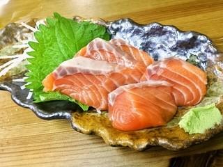 天ぷら やまざき屋 - サーモン