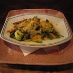 19280810 - 「桜えびと春野菜のチーズ焼き」