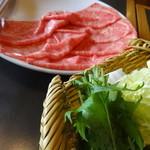 木曽路 - 和牛霜降肉&野菜@しゃぶしゃぶ「いろどり」コース