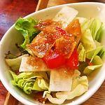 穂の華 - サラダ。ドレッシング好きです