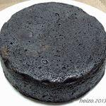 ラ・ファミーユ - まっ黒なチーズケーキでした。