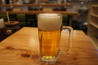 とんかつ まるや 浜松町店 - 生ビール