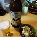鳥一番湘南台 - 瓶ビール(大)&お通し