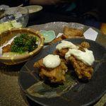 創作ダイニング 凛 - 揚物「大山鶏のチキン南蛮/タコの唐揚げ 抹茶塩/野菜さつま揚げ」