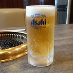 ビーフ飯店 - 生ビール(中) ¥450