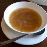 Trattoria & Pizza Banzo - こちらのランチはスープorサラダが選べますが、スープが毎回美味しいので・・・。