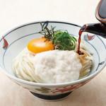 金比羅製麺 - とろ玉ぶっかけ(温・冷) 並380円 大480円