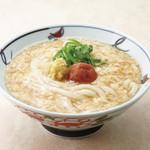 金比羅製麺 - 梅玉あんかけ(温) 並390円 大490円