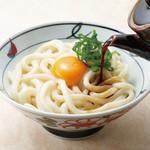 金比羅製麺 - 釜玉うどん(温) 並330円 大430円
