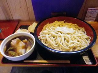 元祖 熊谷うどん 福福 - 肉汁うどんテラ盛\1800 1.6キロだそうです