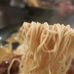 どやぺぺらぁ麺 - 細麺です。