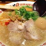 よってこや - 鶏ガラとんこつ醤油ラーメン(味玉付き)【750円】
