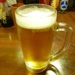 やきとん すずき - まずはビール!!