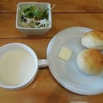 19320990 - スープ・サラダ・パン