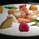 19324112 - チーズフォンデュのディップ野菜