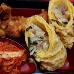 豚麺 - スペシャルランチ(春巻き、唐揚げ)