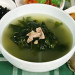 民俗村 - わかめスープ 500円