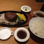 ステーキハウス牛和鹿 - 和牛ハンバーグランチ(1000円)