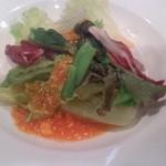 19329487 - 小松菜のトマトチーズソース