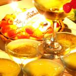 ユニコーン - 記念日をシャンパンタワーで演出。