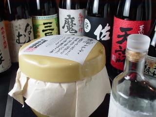 倉敷蔵酒場 七輪焼さくら亭 - 鹿児島を中心にプレミアム焼酎をそろえました。森伊蔵、魔王もありますよ。